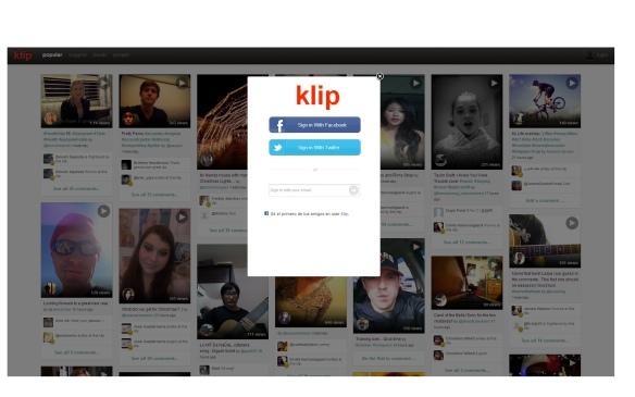 Sencilla forma de registrarse a través de facebook, twitter o email